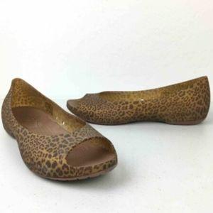 Crocs Leopard Ballet Flats